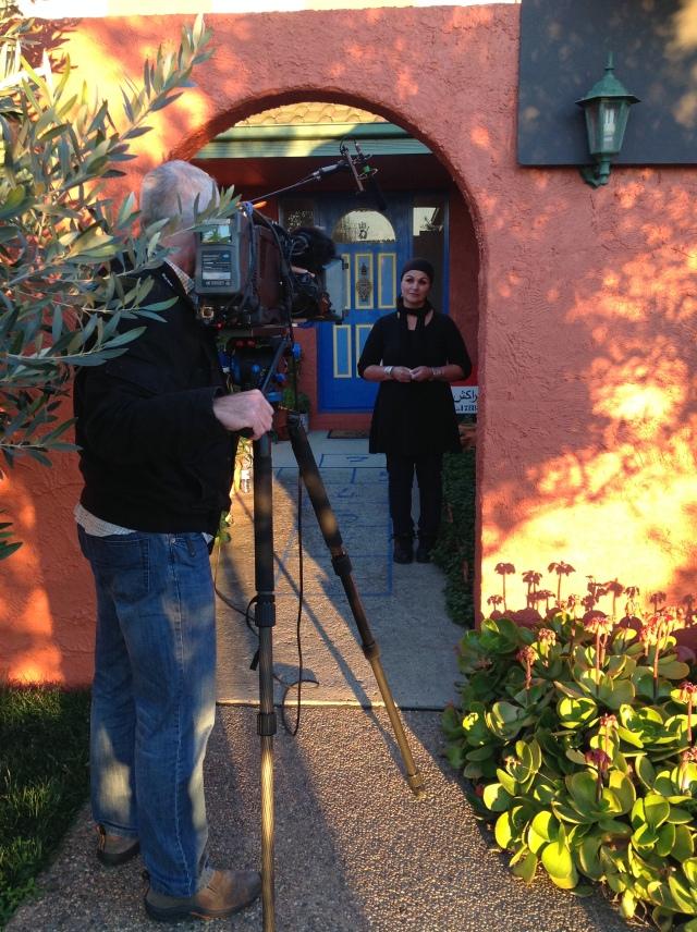Fatima Killeen filming at home in Canberra, Australia