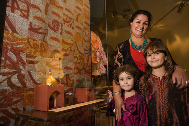 Fatima and the girls at the opening of the Australian Journeys gallery in 2009