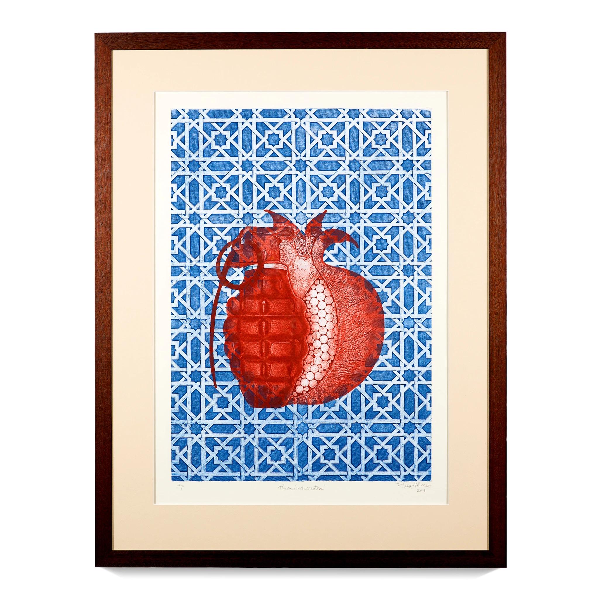 The Cooked Narrative (2021) - Fatima Killeen - www.fatimakilleen.com - collograph - Australian Muslim Artists Art prize 2021